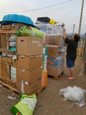 Gran donativo de material diverso por parte de Stichting Sis
